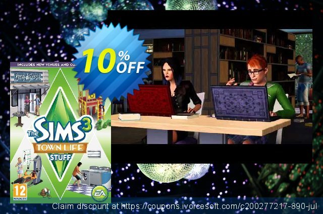 Get 10% OFF The Sims 3: Town Life Stuff PC/Mac offering discount