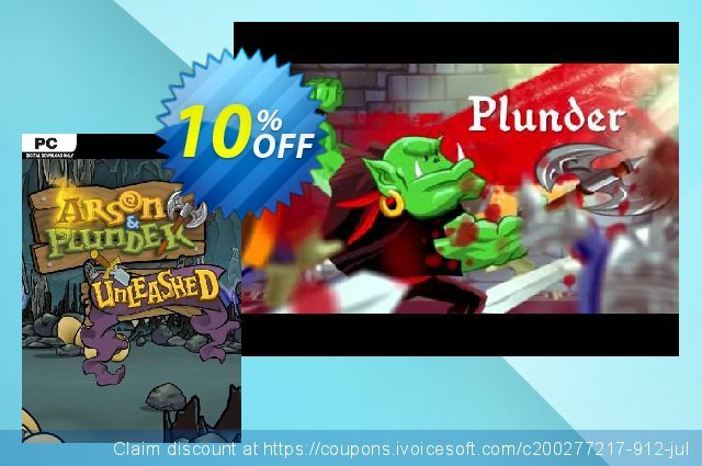 Arson and Plunder Unleashed PC discount 10% OFF, 2020 Back to School deals offering sales