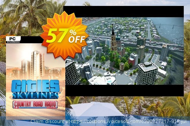 Cities Skylines - Country Road Radio DLC discount 67% OFF, 2020 Student deals offering sales