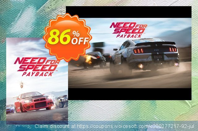 Need for Speed Payback PC discount 86% OFF, 2021 Mother Day offering sales. Need for Speed Payback PC Deal