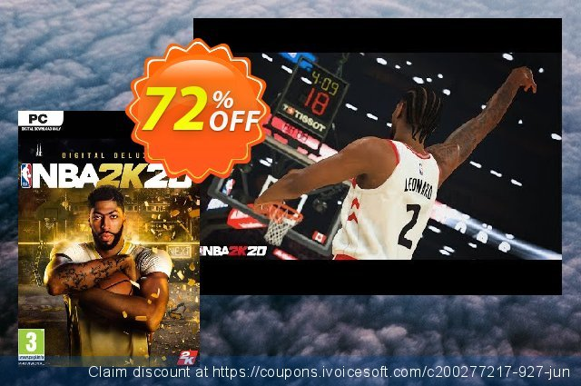 NBA 2K20 Deluxe Edition PC (EU) discount 54% OFF, 2020 Halloween offer
