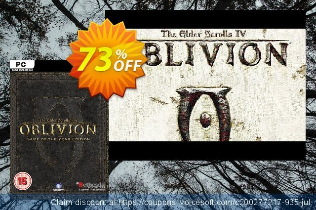 The Elder Scrolls IV 4: Oblivion - Game of the Year Edition PC discount 75% OFF, 2020 Halloween offering sales