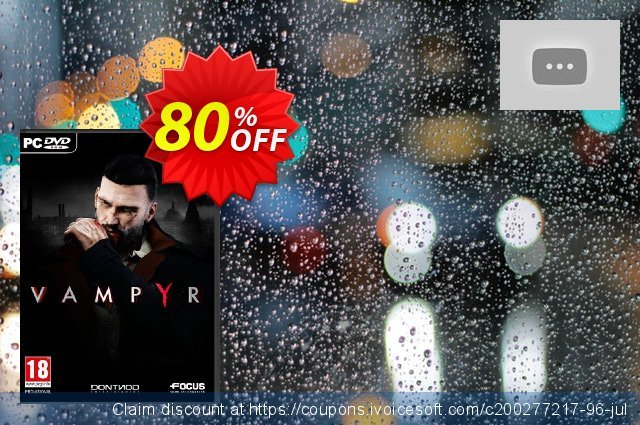 Vampyr PC discount 83% OFF, 2021 Mother Day sales. Vampyr PC Deal