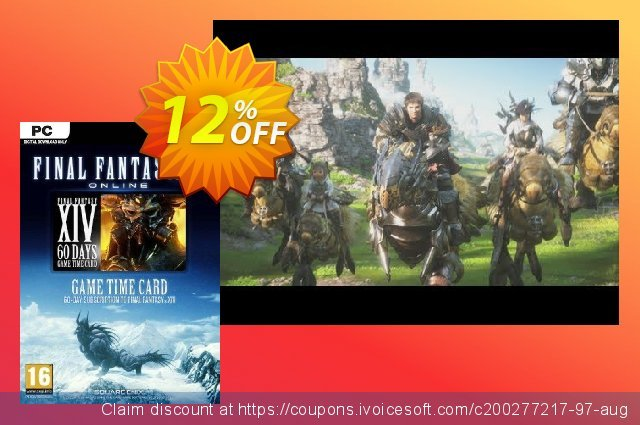 Final Fantasy XIV 14: A Realm Reborn 60 Day Time Card PC discount 11% OFF, 2021 Mother's Day deals. Final Fantasy XIV 14: A Realm Reborn 60 Day Time Card PC Deal
