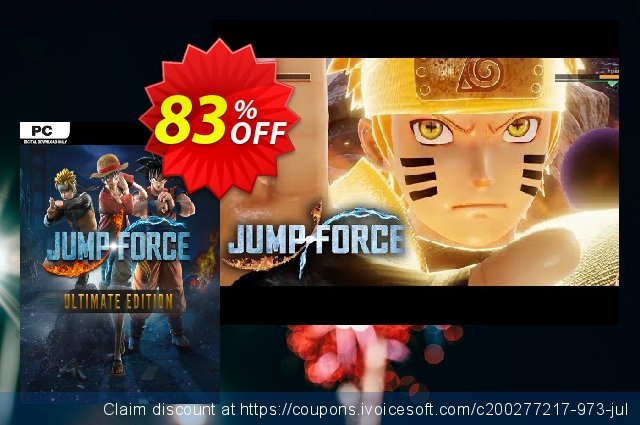 Jump Force Ultimate Edition PC discount 67% OFF, 2020 Back to School event offering sales