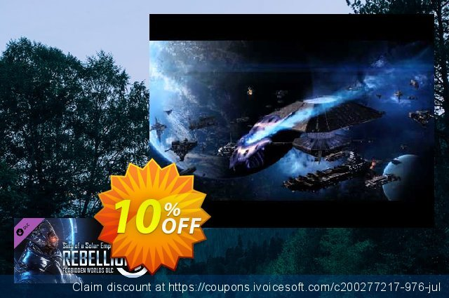 Sins of a Solar Empire Rebellion Forbidden Worlds DLC PC discount 10% OFF, 2020 Back to School shopping offering sales