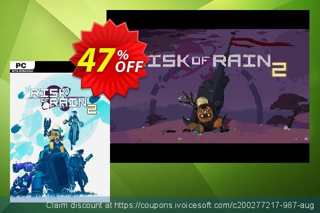 Risk of Rain 2 PC discount 47% OFF, 2020 College Student deals offering discount