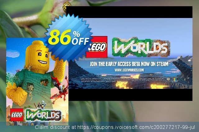 Lego Worlds PC + DLC discount 80% OFF, 2020 Christmas Day offering sales