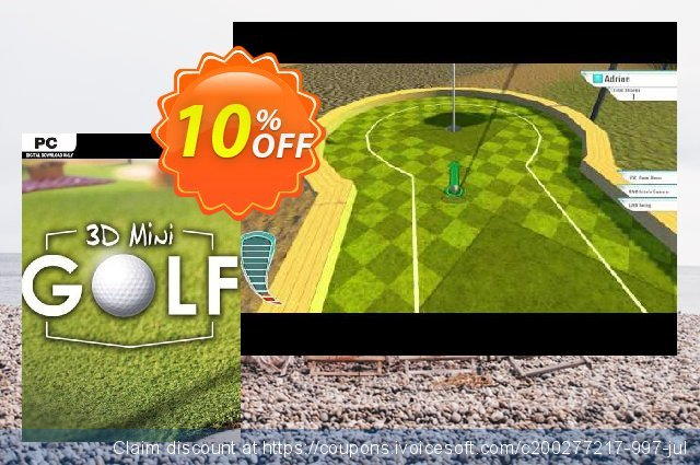 3D MiniGolf PC discount 10% OFF, 2020 Back to School shopping offering sales