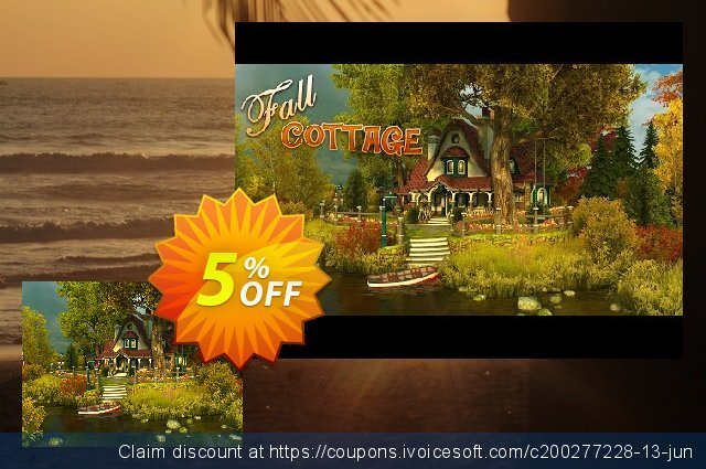 3PlaneSoft Fall Cottage 3D Screensaver discount 5% OFF, 2020 Halloween offering sales
