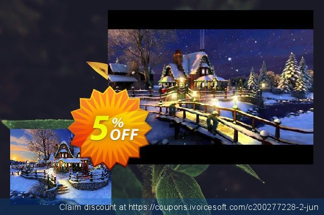3PlaneSoft White Christmas 3D Screensaver discount 5% OFF, 2020 Thanksgiving promotions