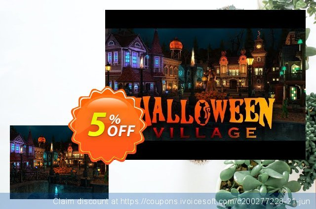 3PlaneSoft Halloween Village 3D Screensaver 惊人的 产品折扣 软件截图