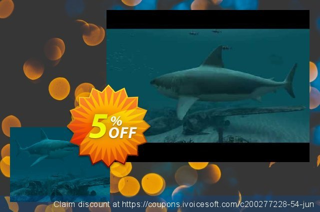 3PlaneSoft Sharks - Great White 3D Screensaver discount 5% OFF, 2020 Halloween promotions