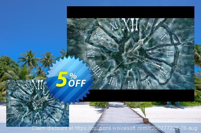 3PlaneSoft Ice Clock 3D Screensaver 独占 产品销售 软件截图