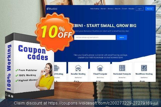 Bluebini Yearly Subscription discount 10% OFF, 2020 Halloween offering sales
