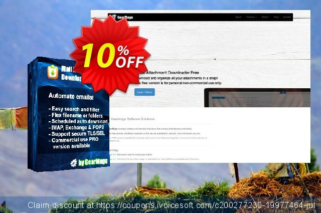 Mail Attachment Downloader PRO Server (Single License) discount 10% OFF, 2020 Student deals discount