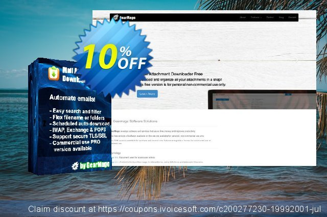 Mail Attachment Downloader PRO Client (10 License Pack) discount 10% OFF, 2020 Teacher deals offering sales