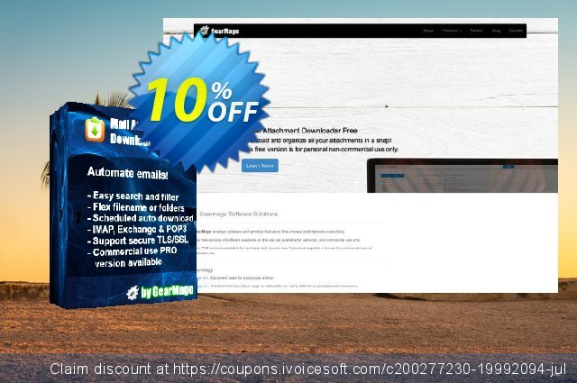 Mail Attachment Downloader PRO Client (25 License Pack) discount 10% OFF, 2020 Back-to-School promotions discount