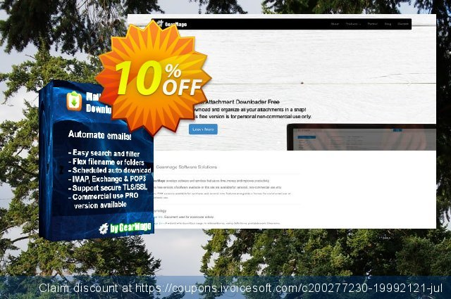 Mail Attachment Downloader PRO Server Upgrade (3 License Pack) discount 10% OFF, 2020 Exclusive Student deals offering sales