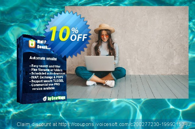 Mail Attachment Downloader PRO Upgrade (10 License Pack) discount 10% OFF, 2020 Back to School Promos offering sales