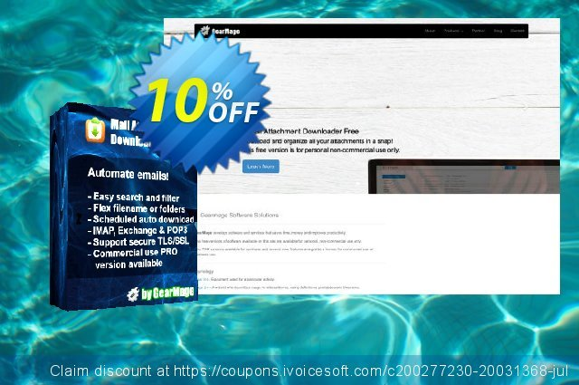 Mail Attachment Downloader PRO Server One Year Extension (Subscription) discount 10% OFF, 2020 Back to School coupons offering discount