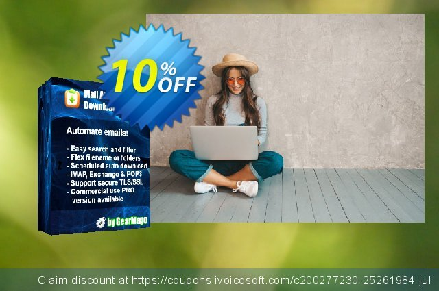 Subscription 1 year - Mail Attachment Downloader Server (Single license) discount 10% OFF, 2020 Back to School offer offering sales