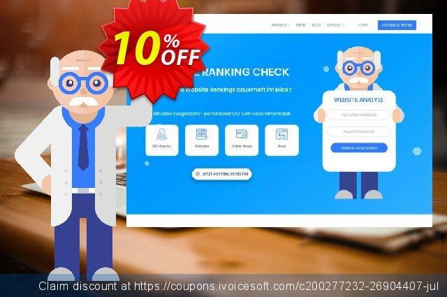 SEO-Dienstleistung, 500 Keywords, Analyse täglich, Bezahlungszeitraum 1 Monat discount 10% OFF, 2020 Exclusive Student deals discounts