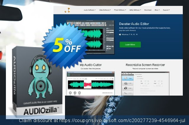 Audiozilla Audio Converter discount 5% OFF, 2020 Back to School coupons sales