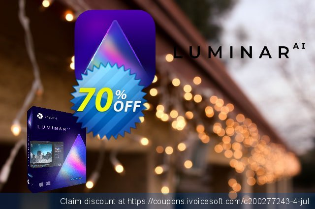 Luminar AI discount 40% OFF, 2021 Video Game Day offering sales. 34% OFF Luminar AI, verified