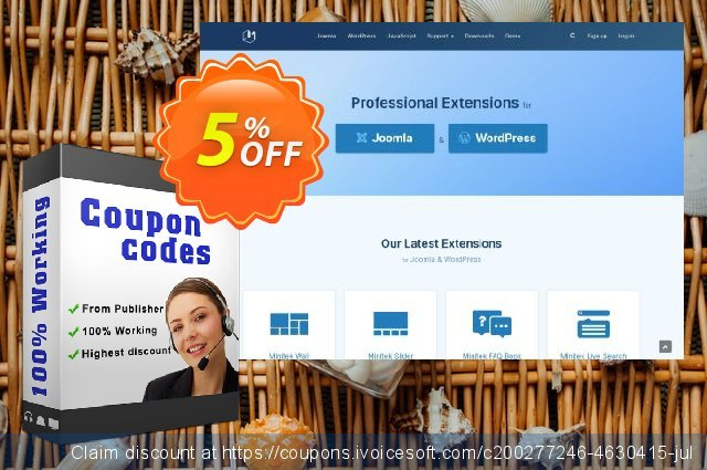 Joomla! Extensions - Professional Subscription 优秀的 促销 软件截图
