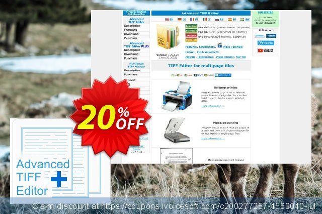 Advanced TIFF Editor Plus (Site License) discount 20% OFF, 2021 Happy New Year sales