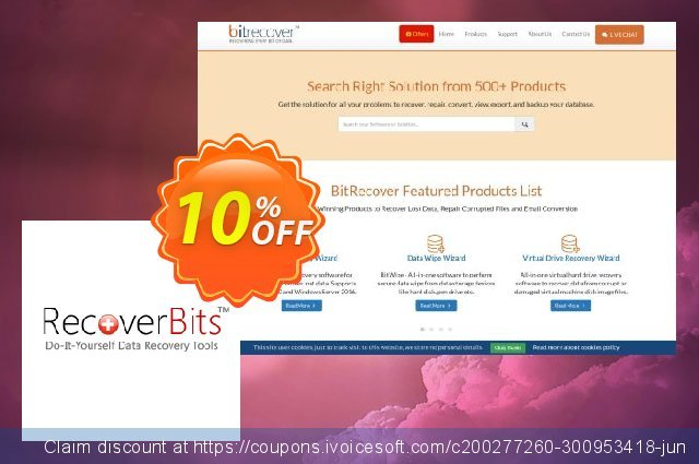 RecoverBits Deleted File Recovery discount 10% OFF, 2020 Halloween offering sales