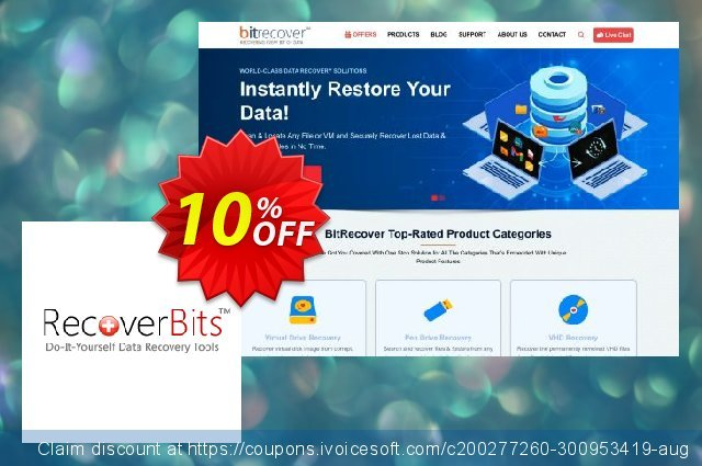 RecoverBits Deleted File Recovery - Technician License discount 10% OFF, 2020 Halloween offering sales