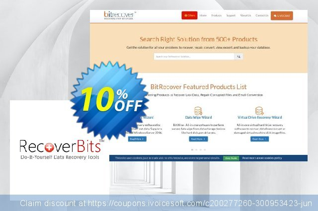 RecoverBits Formatted Data Recovery discount 10% OFF, 2020 Halloween offering sales