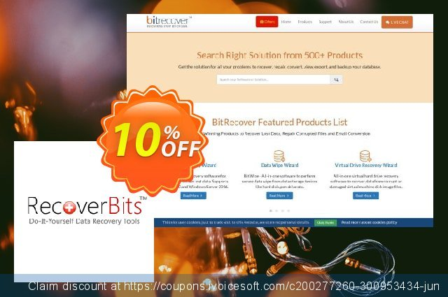 RecoverBits NTFS Data Recovery discount 10% OFF, 2020 Halloween promo