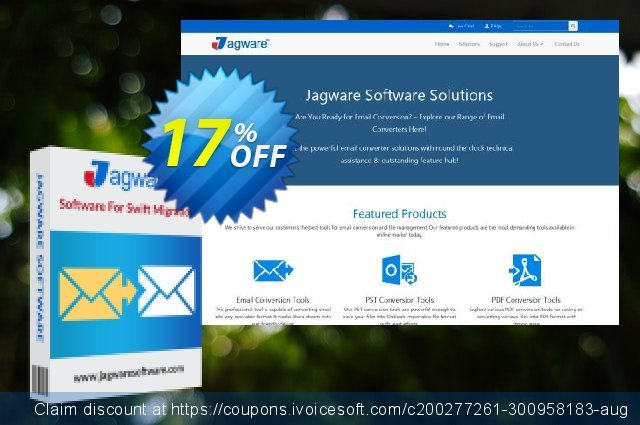 Jagware MBOX to PST Wizard - Business License 超级的 产品销售 软件截图