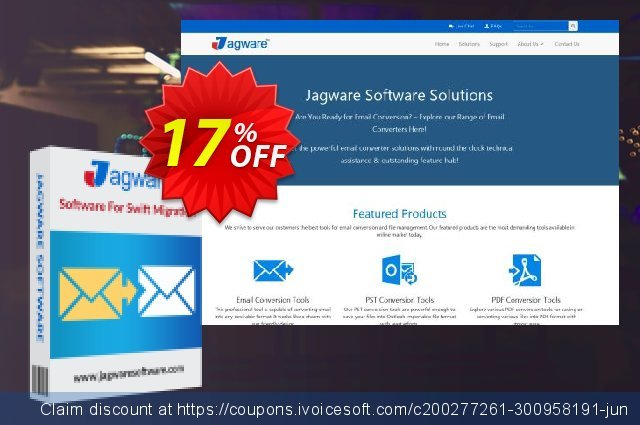 Jagware PST to PDF Wizard - Business License 惊人的 促销 软件截图