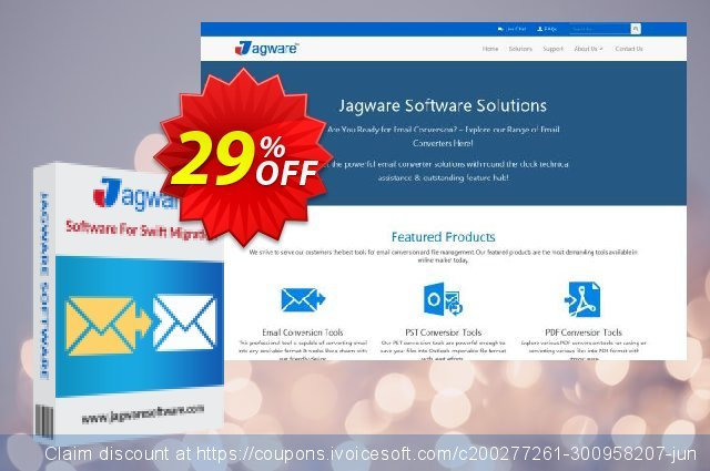 Jagware EML to PDF Wizard discount 29% OFF, 2021 All Hallows' Eve offering sales. Coupon code Jagware EML to PDF Wizard - Home User License
