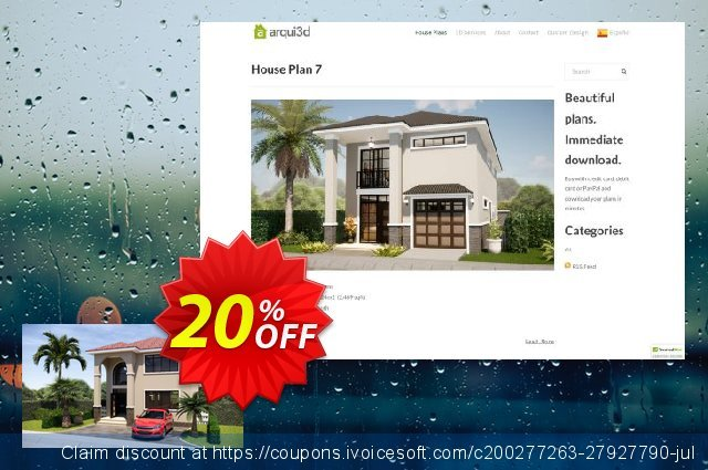 Arqui3D House Plan 001 (3D Package) discount 20% OFF, 2020 Halloween promotions