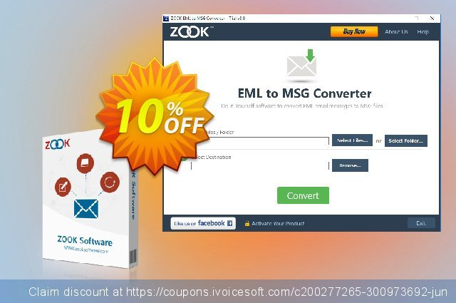 ZOOK EML to MSG Converter - Corporate License  놀라운   할인  스크린 샷