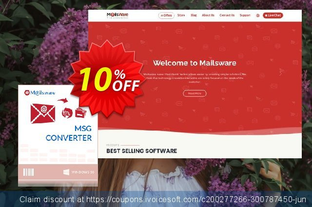 Mailsware MSG Converter - Pro License discount 10% OFF, 2020 Back to School promotion deals