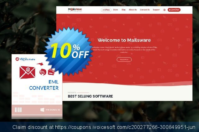Mailsware EML to OLM discount 10% OFF, 2020 Back to School shopping offering sales