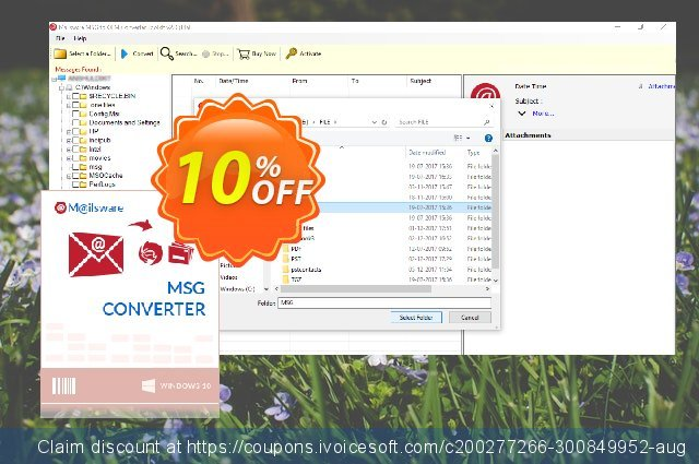 Mailsware MSG to OLM discount 10% OFF, 2020 Back to School offer offering sales