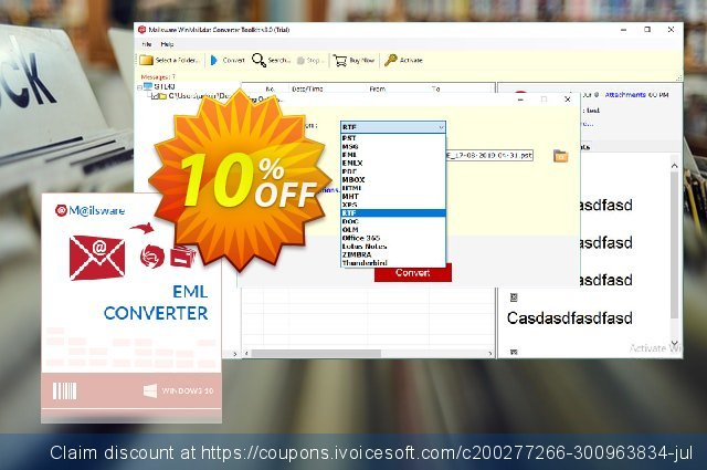 Mailsware Winmail.dat Converter Toolkit discount 10% OFF, 2020 Back to School shopping promo