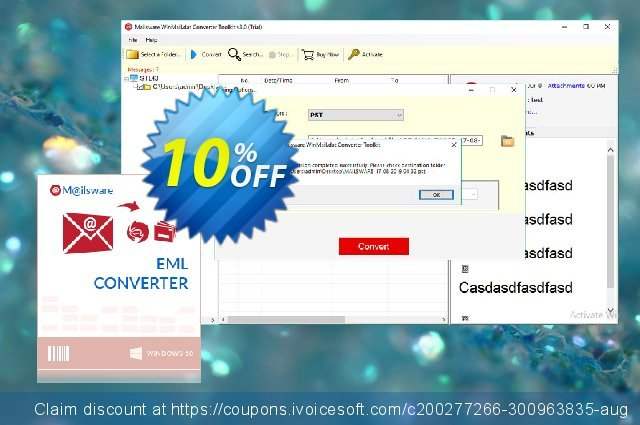 Mailsware Winmail.dat Converter Toolkit - Pro License discount 10% OFF, 2021 Cycle to Work Day promo. Coupon code Mailsware Winmail.dat Converter Toolkit - Pro License