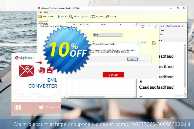 Mailsware Winmail.dat Converter Toolkit - Migration License  경이로운   프로모션  스크린 샷