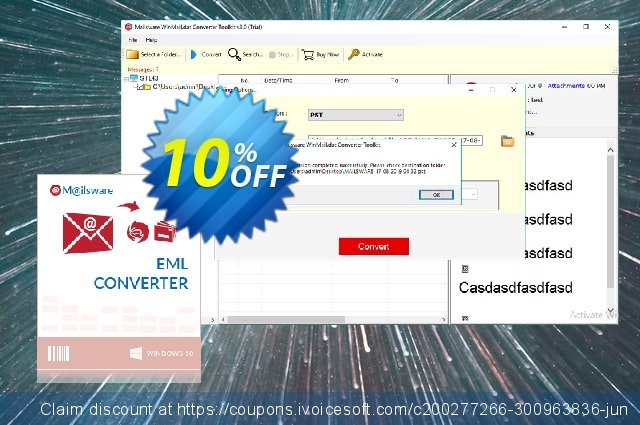 Mailsware Winmail.dat Converter Toolkit - Migration License discount 10% OFF, 2021 Programmers' Day offering sales. Coupon code Mailsware Winmail.dat Converter Toolkit - Migration License