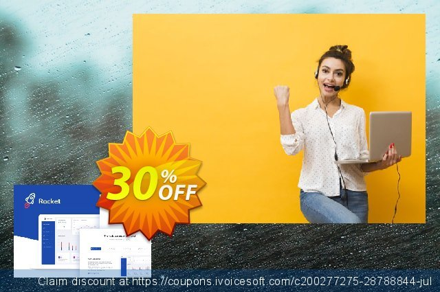 Themesberg Rocket - SaaS Bootstrap 4 Template discount 30% OFF, 2020 Thanksgiving Day promo sales