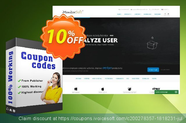 WorkAuditor (iMonitor 365) discount 10% OFF, 2021 New Year's Weekend offering sales