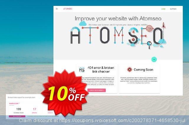 Atomseo Broken Links Checker. Enterprise Monthly Subscription Plan discount 10% OFF, 2020 Halloween offering sales